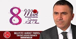 MHP'li Mucur'dan 8 Mart Dünya Kadınlar Gününü Mesajı