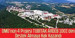 OMÜnün 4 Projesi TÜBİTAK ARDEB...